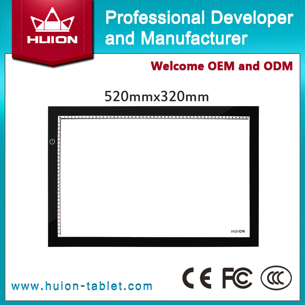 Hot Sale New Huion A2 LED Tracing Boards High Quality Ultra Thin Light Pad Professional Animation Tatoo Tracing Light Boxes(China (Mainland))