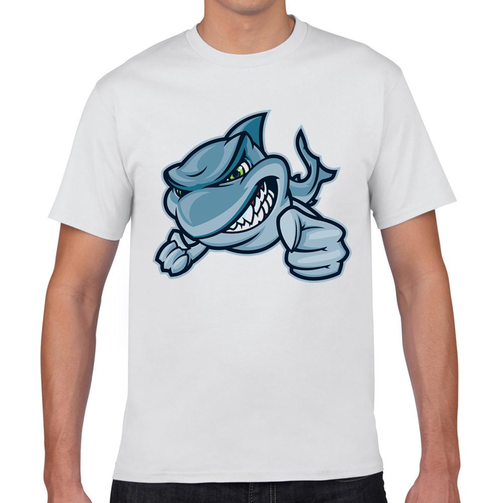 Shirt design brands - Short O Neck Summer 3d Printed Motivate Shark Design Casual T Shirt Brand Men T