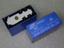 Buy 10PCS SMI-24VDC-SL-2C DC 24V 5A 250V 8PIN Power Relay for $11.50 in AliExpress store