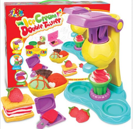 Гаджет  DYT Ice Cream Maker Play Dough Mold Kids Best gifts Toys Soft Clay Plasticine 1PCS Color Mud Clay Mold Set None Игрушки и Хобби