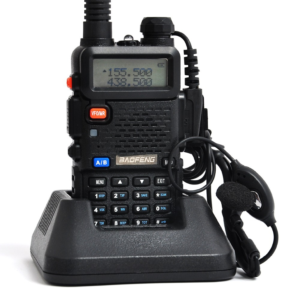 New Version Baofeng Portable Radio Walkie Talkie UV-5R Dual Band CB Radio Transceiver 136-174MHz&400-520MHz A0850A with Headset(China (Mainland))