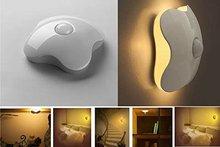 Four Leaf Clover Sensor Control Wall Lights Wall Sconces Wireless Led Shaped Light Controlled Human Body Sensor LED Light Night (China (Mainland))