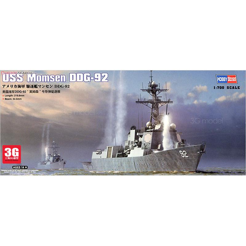 Hobbyboss Trumpeter 1/700 scale ship 83413 USS MOMSEN DDG-92 battleship assembly model kits Modle building scale battleship(China (Mainland))