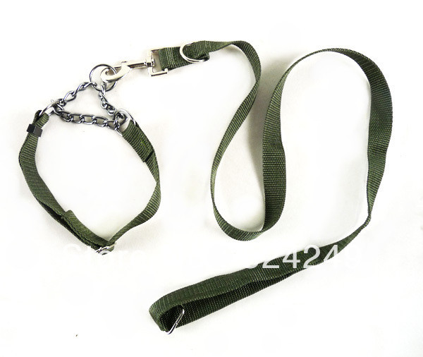 Army Green collar traction rope large dog rope pet supplies dog collar traction belt(China (Mainland))