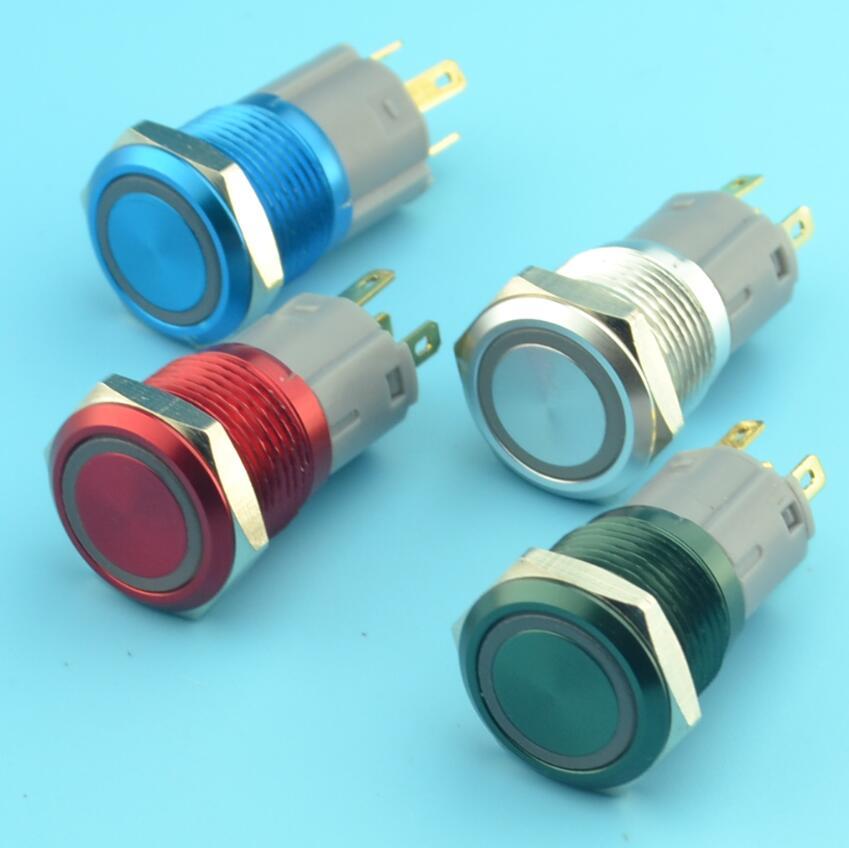 16mm momentary 12V illuminated push button switch(China (Mainland))