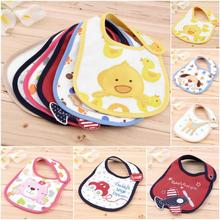 Kids Baby Girl Boy Cartoon Toddler Lunch Bibs Burp Cloths Towel Saliva Waterproof Hot Selling