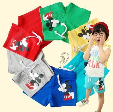 2015 summer girls boys board shorts green/red/blue cute boys beach shorts 100%cotton boys swimwear for 2,3,4,6,8 age Kp-15001