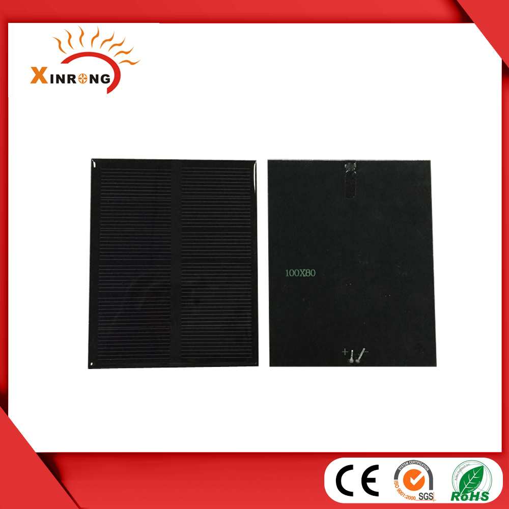 10pcs/lot High Quality solar panels 6v 1W mini solar cell 100x80x3MM For Small power appliances Free Shipping(China (Mainland))