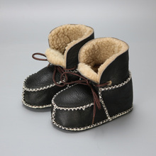 Baby Snow Boots First Walkers Real Wool Sheepskin Shoes Soft Sole  Baby Girl Infants Toddler Shoes Warm 100% Fur Kids Shoes(China (Mainland))