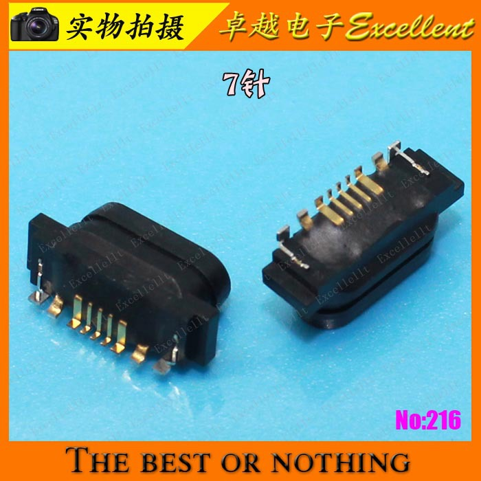 FOR Original Samsung Huawei, ZTE, Nokia Asus Sony Ericsson phone plug charging data port 7 pin(China (Mainland))