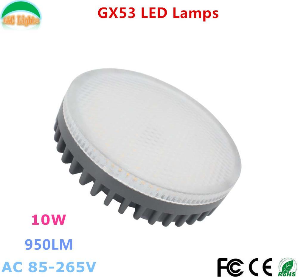 GX53 LED LAMP BULB 10W Downlight ultra bright lights 110V 220V 2D SMD CE RoHS Free shipping(China (Mainland))