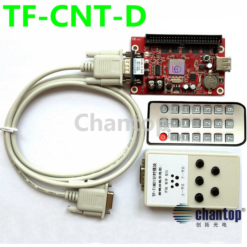 Фотография TF-CNT-D Time count / stopwatch LED game screen control card single/dual color remote led sign controller