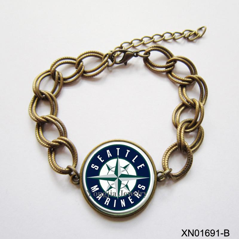 Fashion Seattle Mariners Bracelet Trendy Style Cuff Bracelet Smart Bracelet MLB Baseball team jewelry(China (Mainland))