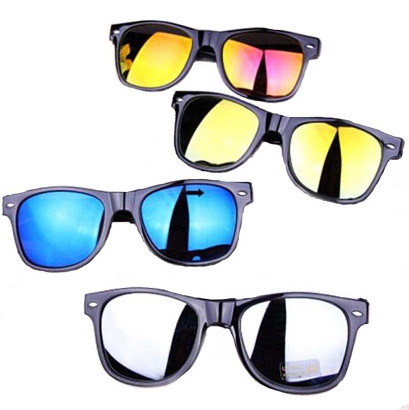 New fashion 2015 reflective glasses round Black Frame men women sun glasses sunglasses 5 colors Free