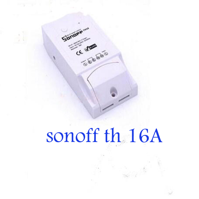 Itead Sonoff TH 16A Temperature Humidity Monitor Switch WiFi Wireless Smart Remote Switches For Smart Home ios&android phone