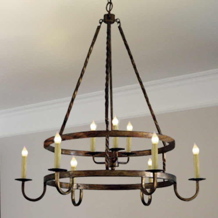 Nordic american country ikea candle light chandelier for Modern chandeliers ikea
