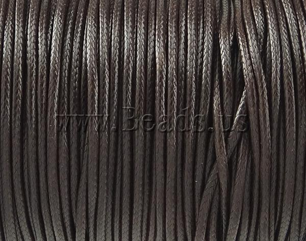 Free shipping!!!Wax Cord,Jewelry Making, coffee color, 2mm, Length:100 Yard, Sold By PC