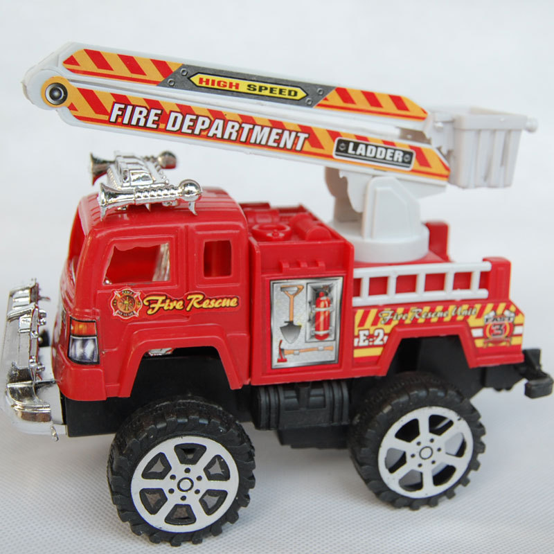 WJA1042 Children's toys wholesale mixed batch of big red fire truck fire suit inertia selling four loaded 700g Toy vehicles(China (Mainland))