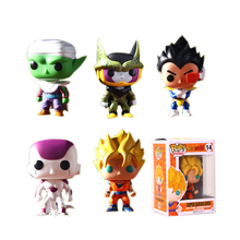 Funko Pop Dragon Ball Z Vinyl Figure Goku Vegeta Cell Piccolo Frieza Action Doll Super Saiyan Model Anime Collection Toy #FB