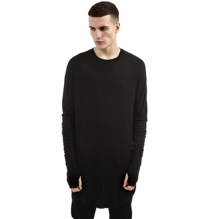 New Thumb Holes T Shirt Extended Oversized Long Sleeve