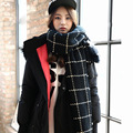 2016 Ladies Scarf Fashion Winter Warm Plaid Thick Long Shawl Echarpe Pashmina Cape Women Wool Scarves