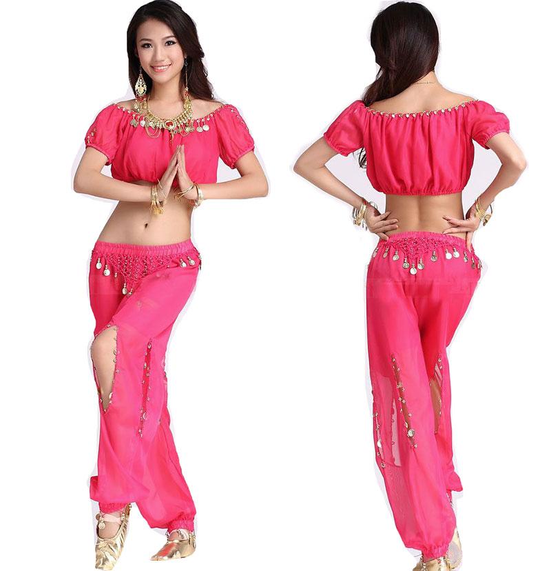 2pcs Set Egyption Egypt Belly Dance Show Costume Bollywood