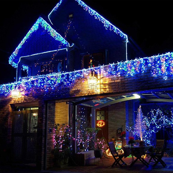 String Lights On House : Holiday Outdoor 100 LED String Lights 10M 220V 110V Christmas Xmas Wedding Party Decorations ...