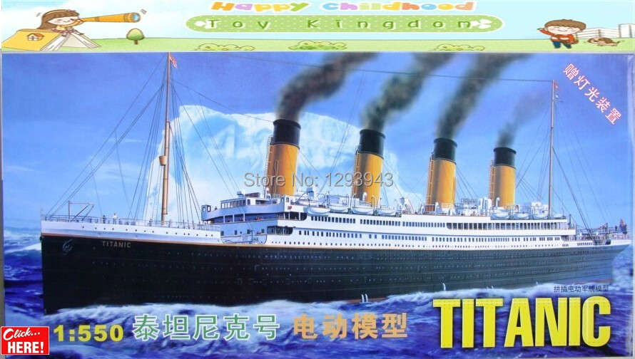 1:550 Titanic kit BIG SIZE!passenger liner ship model toy Contains internal lighting and motor free shipping model Birthday gift(China (Mainland))