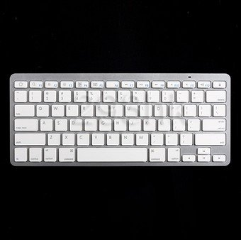 Universal Aluminum Bluetooth Wireless Keyboard For IPad 2 3 4 IPhone 4S 5 5S For iMac PC For android/window mobile smart phone(China (Mainland))