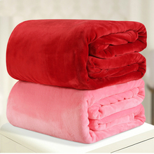 220*240cm 12different colors flannel comforter duvet quilt sofa/air/bedding Throw solid color double faced travel blanket(China (Mainland))
