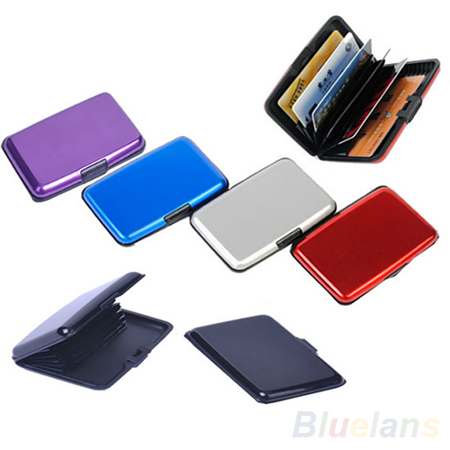 7colors Waterproof Business ID Credit Card Wallet Holder Aluminum Metal Case Box <br><br>Aliexpress