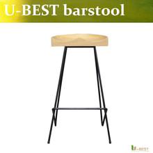 Buy Free U-BEST Popular designer Industrial Bar Stools,mid-century modern bar counter stool,wooden bar stools for $229.00 in AliExpress store
