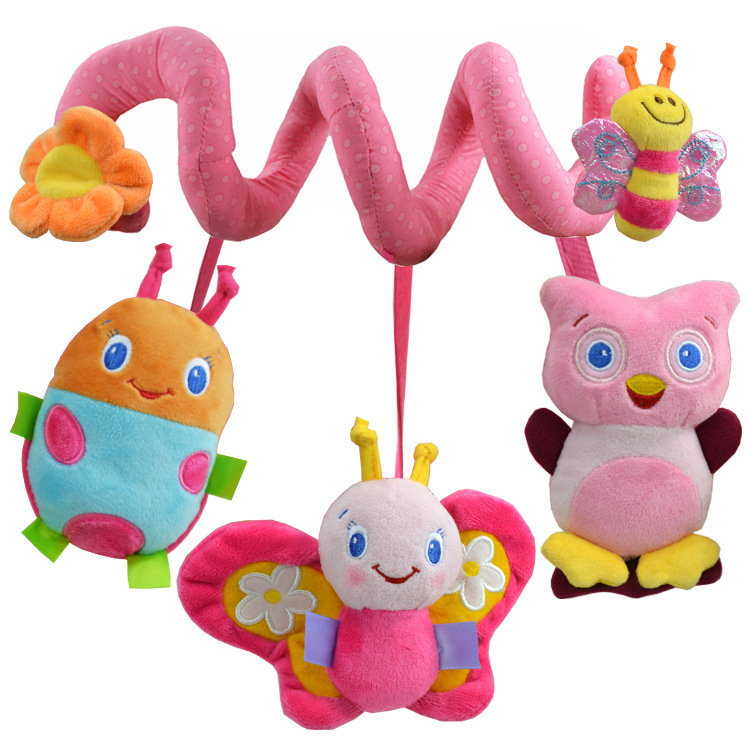 Baby toys 0-12months baby mobiles mobility in the crib plush toys for babies newborns animal shap musical toys 2015 hot BM001(China (Mainland))