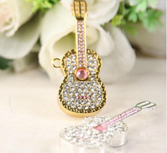 Jewelry violin shaped usb key fancy usb flash drive full capacity custom usb (China (Mainland))