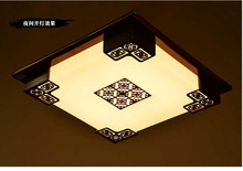 Chinese style lighting Square Teahouse study bedroom Corridor Restaurant Solid wood LED ceiling lamp   WXN130(China (Mainland))