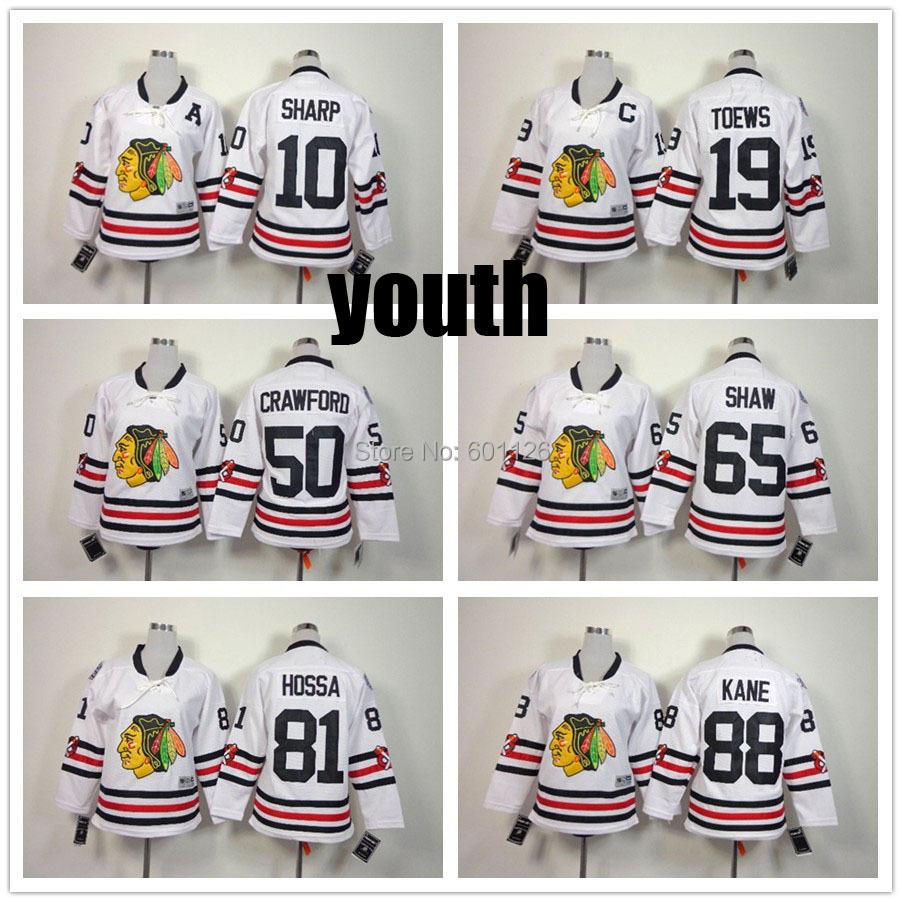 2015 Winter Classic Jersey youth Chicago Blackhawks Ice Hockey 88 Patrick Kane Jersey 19 Jonathan Toews 81 Marian Hossa jerseys