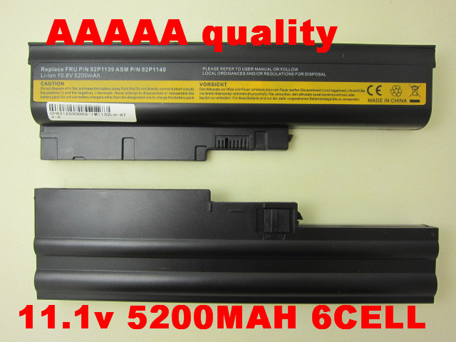 Laptop Battery for IBM ThinkPad Lenovo T60 T61 R60 R61 Z60 R500 T500 SL400 SL500 92P1133 42T4619 92P1138 42T5246 42T4572 42T4511<br><br>Aliexpress