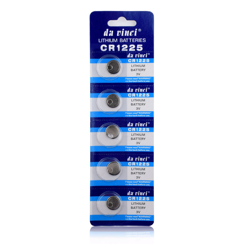 5PCS 3V Lithium Button Coin Cells Batteries CR1225 LM1225 BR1225 ECR1225 KCR1225 EE6220