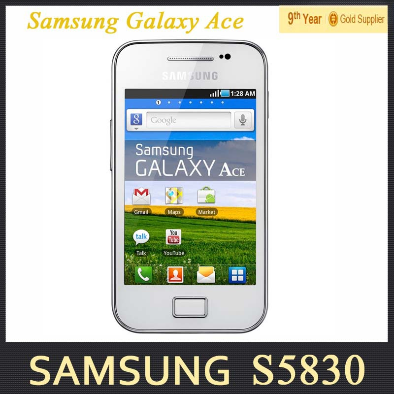 S5830 Original Unlocked Samsung Galaxy Ace S5830 S5830i Android Phone 3.5 inch 5MP GPS WIFI 3G Refurbished Mobile Phone(Hong Kong)