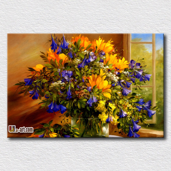 Purple and yellow flowers painting canvas prints of flower for Purple and yellow painting