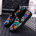 Women flat shoes platform shoes cheap loafers fashion 2017 graffiti women casual shoe round toe plastic