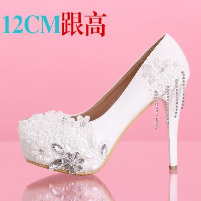 2014 womens fashion high heels pumps female white lace Rhinestones, metal tassels wedding shoes sy-531<br><br>Aliexpress