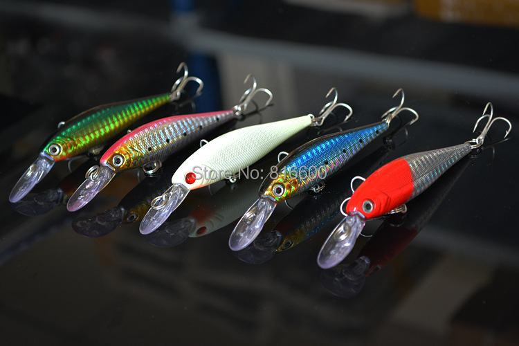 Free Shipping Minnow Fishing Lure Crank Bait Lures Tackle #6 Hooks Bass 10cm/9.5g High Quality Fishing Hooks(China (Mainland))