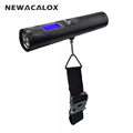 NEWACALOX 50kg x 10g LCD Digital Travel Weight Electronic Fishing Luggage Scale Weighing Hanging Scale with