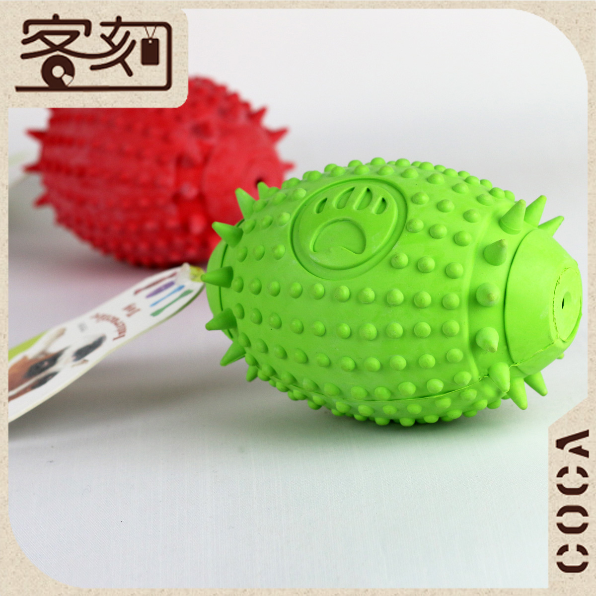 Odontoprisis dogcats puzzle rugby pet rubber ball vocalization chews hollow ball dog toys(China (Mainland))