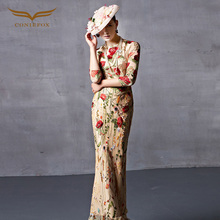 Coniefox 31513 2017 new Formal Muslim Retro Prom Evening Dress Ladies Cap Trumpet Embroidered de festa Appliques Robe De Soiree(China (Mainland))