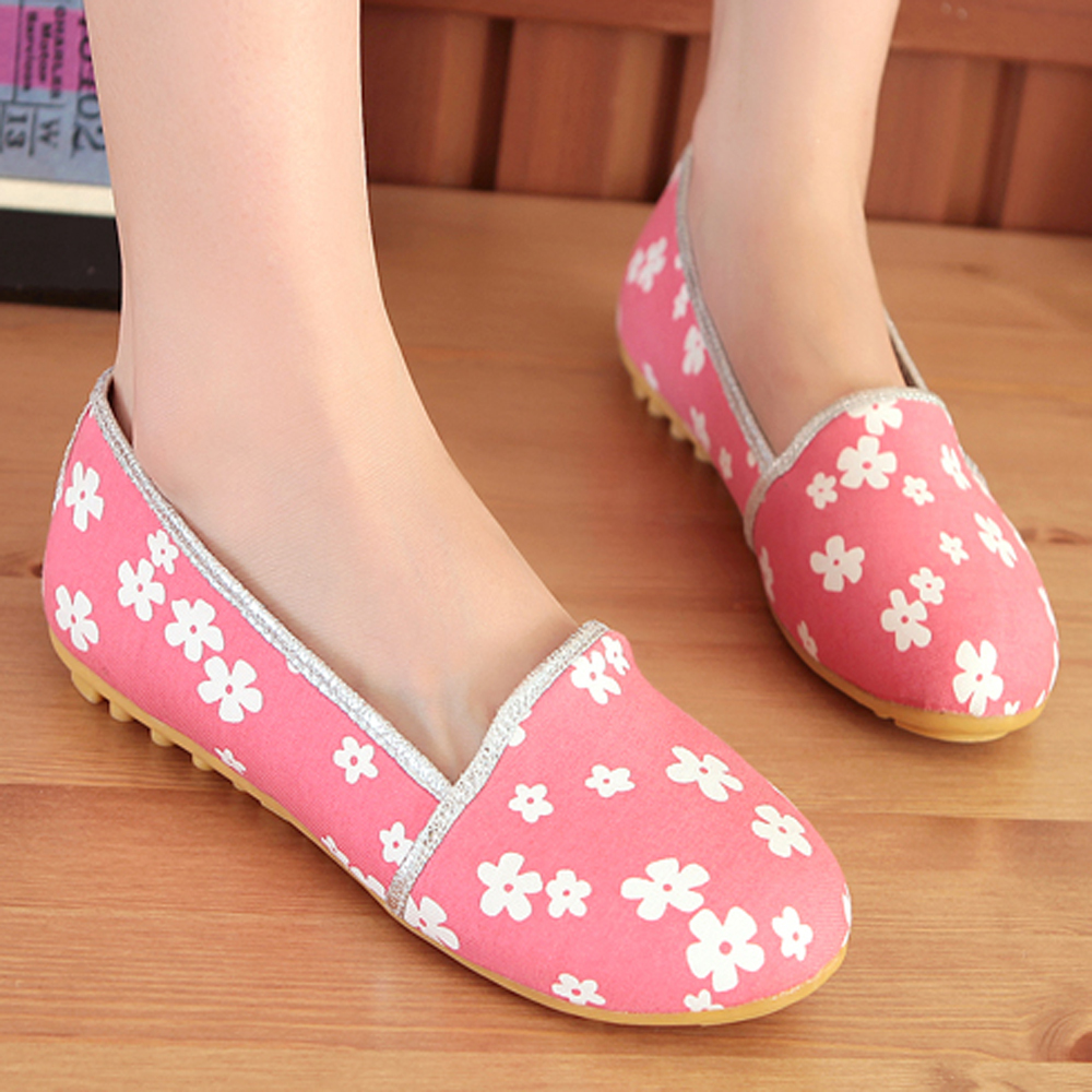 Size 34-39 Fashion Ladys Flats Autumn Round Toe Loafers Casual Footwear Female Cheap Floral Plain Blue Shoes AA07<br><br>Aliexpress