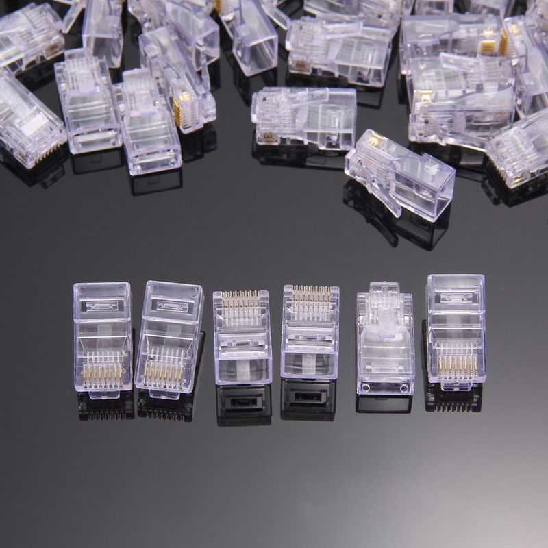 FW1S 150 PCS New RJ45 Network 8P8C Modular Plug Cat5 CAT5e Connector Free Shipping<br><br>Aliexpress