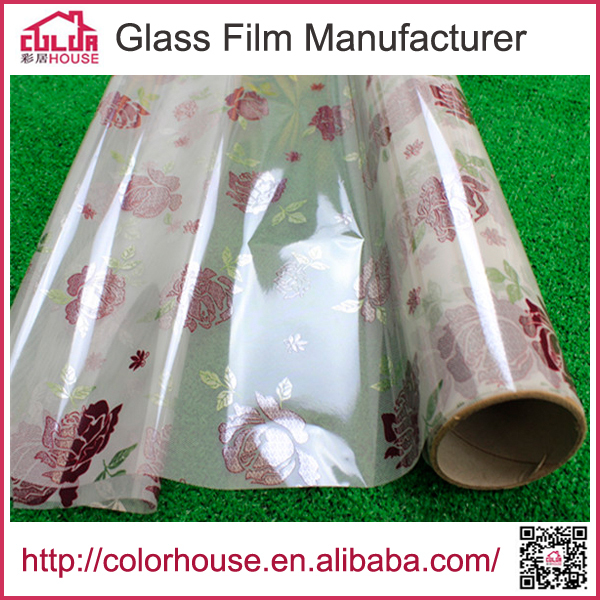 PVC self-adhesive color printing laser static window film(China (Mainland))