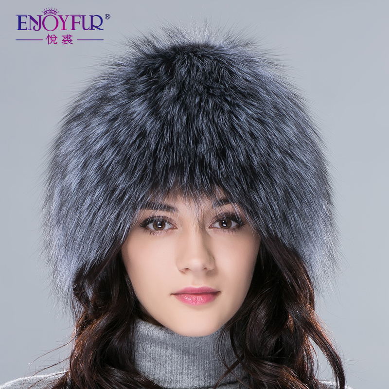 Women winter silver fox fur hats warm knitted beanies new fashion real fur cap elastic good quality female hat hot selling(China (Mainland))